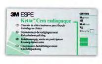 3M ESPE - KETAC CEM  Surtido: 3 x 33 g Polvo 3 x 12 ml Líquido